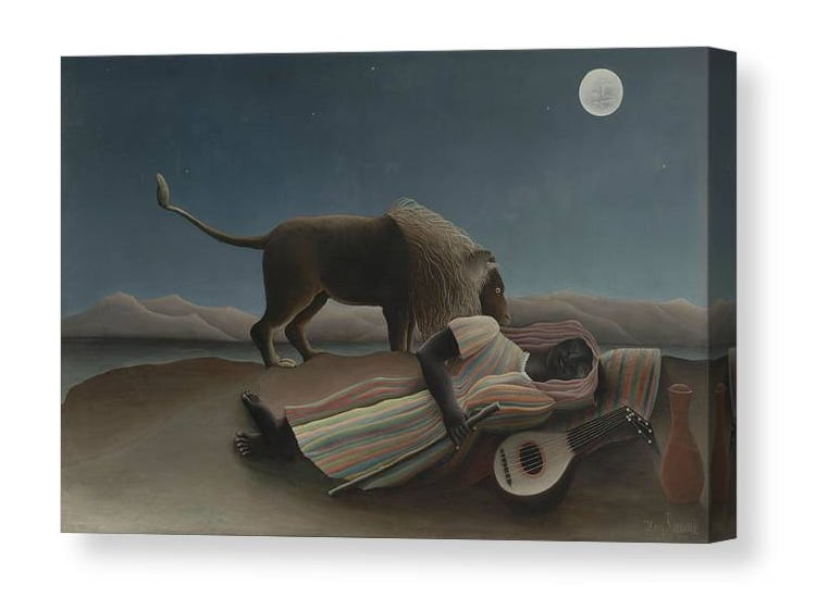 THE SLEEPING GYPSY BY HENRI ROUSSEAU