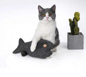 ZEZE Simulation Fish Cat Pillow Bite-Resistant Molar Toy
